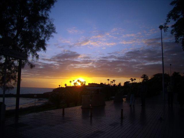Zdjęcia: Costa Adeje, Teneryfa, Zachód słońca w Costa Adeje., HISZPANIA