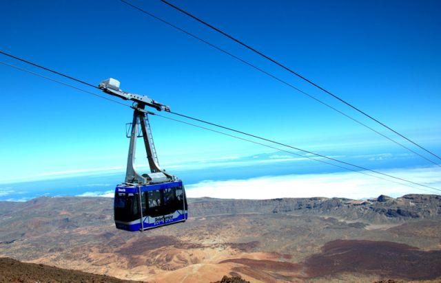 Zdjęcia: Teneryfa, Wyspy Kanaryjskie, Kolejka linowa na wulkan El Teide, HISZPANIA