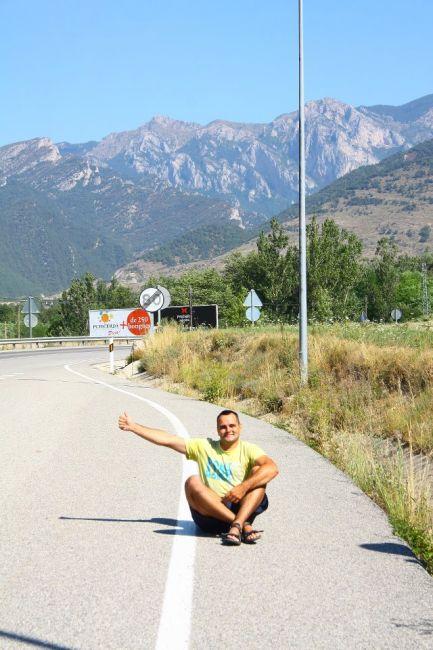 Zdjęcia: Autostop przed Andorą, GÓRY, Autostop przed Andorą. W tle Pireneje hiszpańsko-francuskie, HISZPANIA