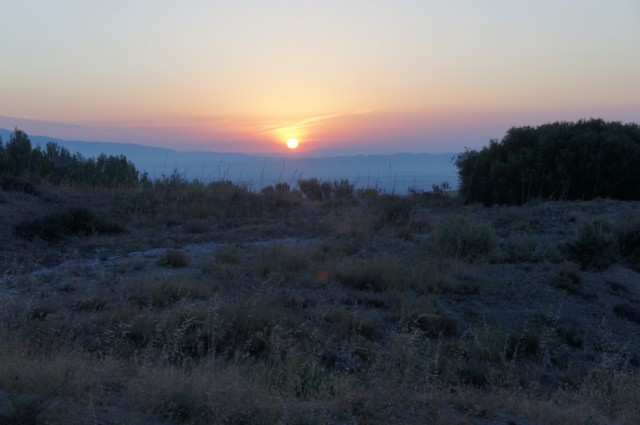 Zdjęcia: Camino de Santiago, Nawarra, Wschód słońca na Camino, HISZPANIA