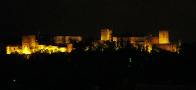 Zdjęcia: Granada, Andaluzja, Widok na Alhambre, HISZPANIA