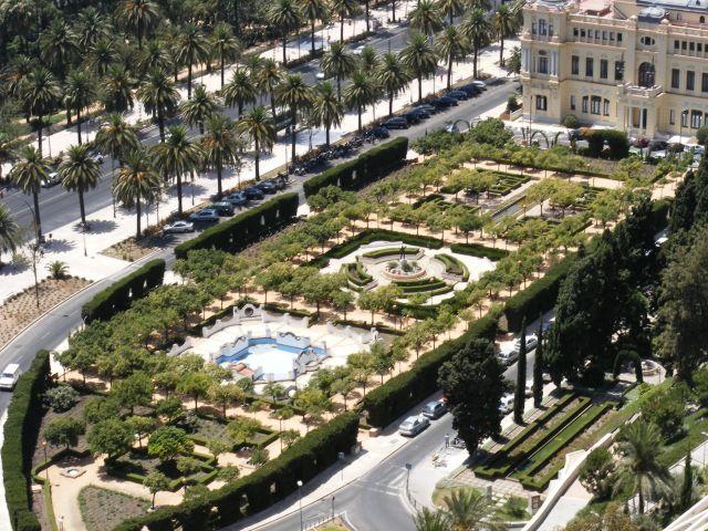Zdjęcia: Malaga, Andaluzja-Costa del Sol, Ogród pałacowy, HISZPANIA