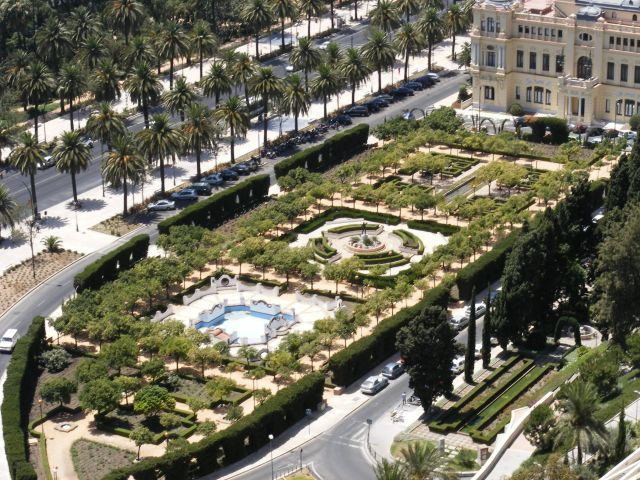 Zdj�cia: Malaga, Andaluzja-Costa del Sol, Ogr�d pa�acowy, HISZPANIA