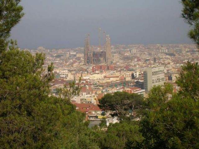 Zdjęcia: Barcelona, Katalonia, Sagrada Familia widok z Parku Guell, HISZPANIA