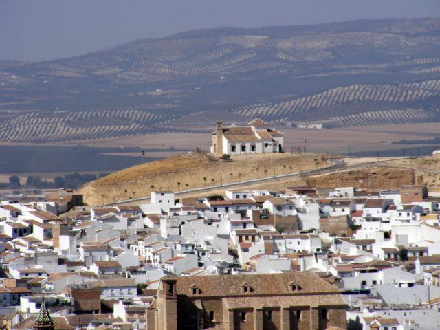 Zdjęcia: Antequera, Andaluzja, Antequera - kościół na wzgórzu, HISZPANIA