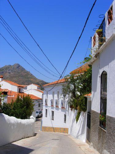 Zdj�cia: Droga Ronda - Gibraltar, Andaluzja, Senne miasteczko w po�udnie, HISZPANIA
