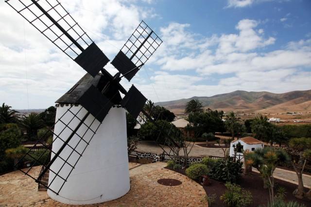 Zdjęcia: Antigua, Fuerteventura/Wyspy Kanaryjskie, Wiatrak w Museo del Queso Majorero, HISZPANIA