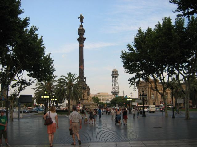 Zdjęcia: Barcelona, Ramblas, pomnik Kolumba, HISZPANIA