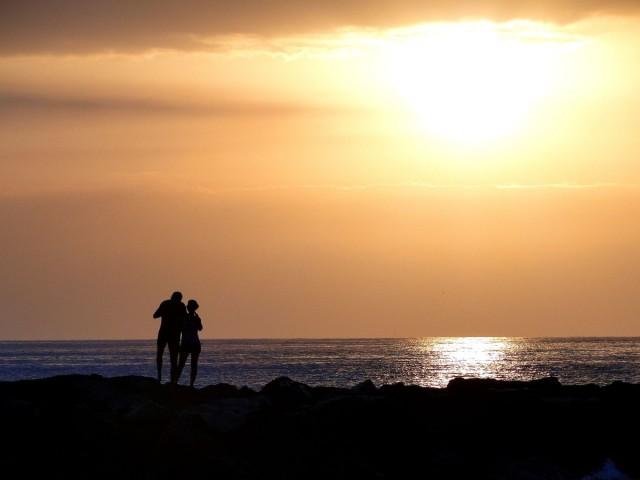 Zdjęcia: Playa de las Americas, Wyspy Kanaryjskie, Teneryfa, Wieczór nad oceanem., HISZPANIA