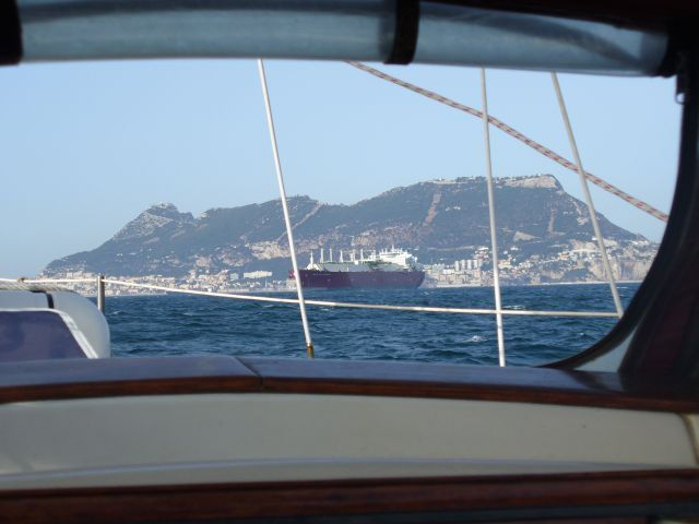 Zdjęcia: okolice Gibraltaru, Morze Śródziemne, Gibraltar w oknie, HISZPANIA