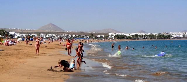 Zdjęcia: Lanzarote, Wyspy Kanaryjskie, Wspomnienie z Lanzarote - Playa de los Pocillos, HISZPANIA