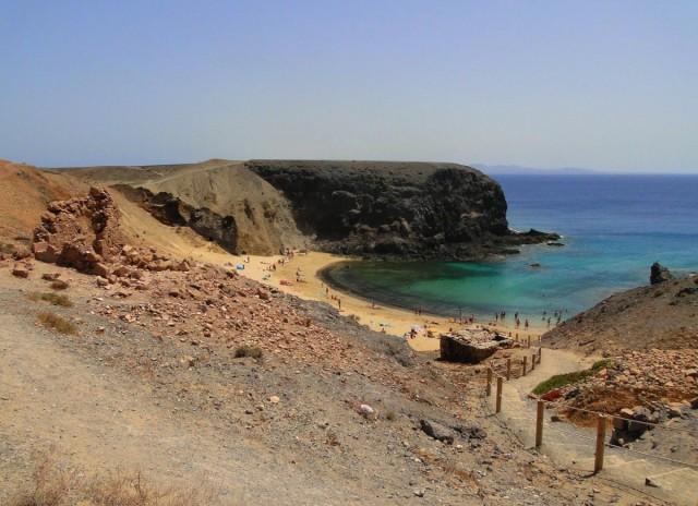 Zdjęcia: Lanzarote, Wyspy Kanaryjskie, Plaża Papagayo (2), HISZPANIA