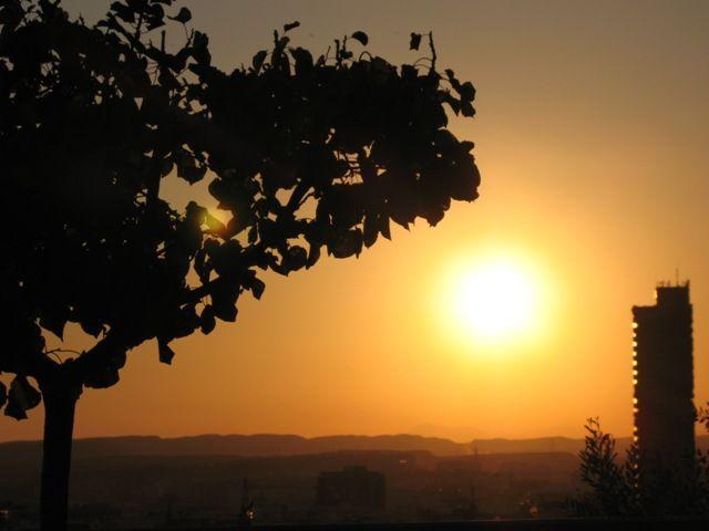 Zdj�cia: Alicante, Walencja, zachodz�ce s�oneczko , HISZPANIA