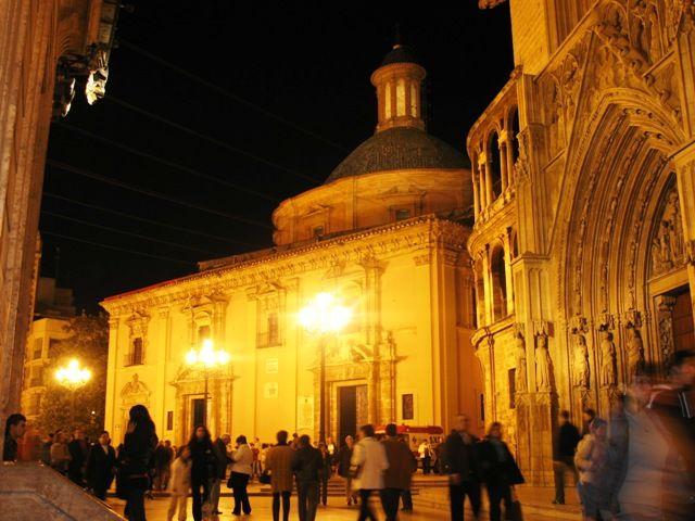 Zdjęcia: Valencia, Valencia, katedra nocą, HISZPANIA