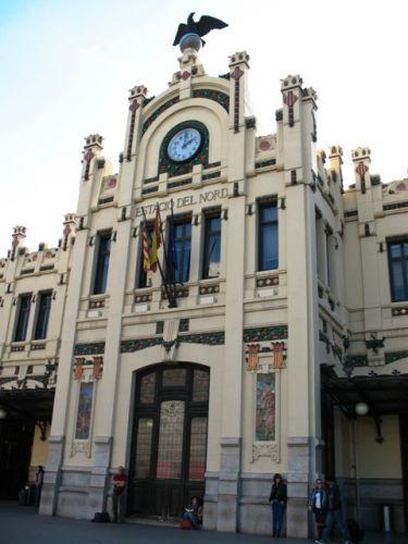 """Zdjęcia: Valencia, Valencia, """"pomarańczowy"""" dworzec, HISZPANIA"""