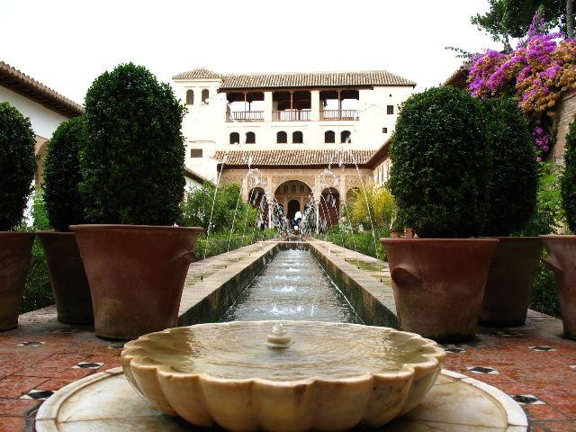 Zdjęcia: Granada, Andaluzja, ogrody Alhambry, HISZPANIA