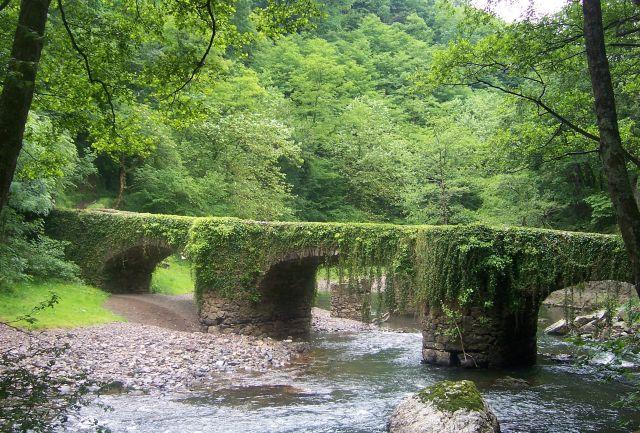 Zdjęcia: Rezerwat Rio Leizaran, Gipuzkoa, Kamienny most, HISZPANIA