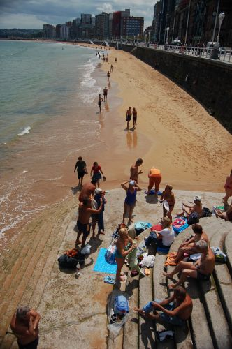 Zdj�cia: Gijon, Asturia, Playa w Gijon, HISZPANIA