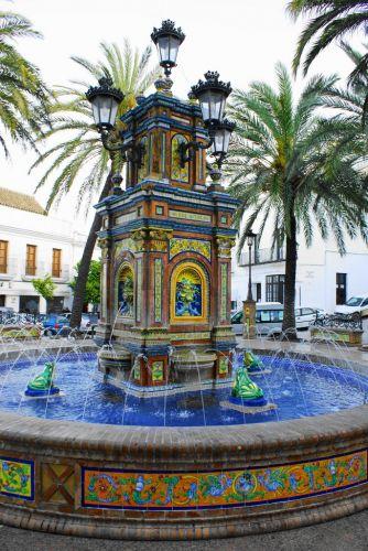 Zdj�cia: Vejer De La Frontiera, Andaluzja, Fontanna, HISZPANIA