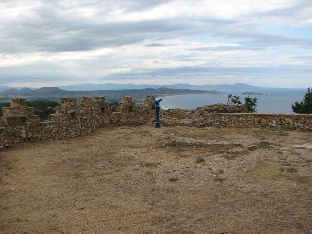 Zdjęcia: BEGUR, COSTA BRAVA, widok z zamku, HISZPANIA