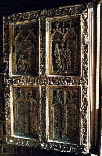 Zdjęcia: katedra w Leon, Kastylia i Leon, drzwi, HISZPANIA