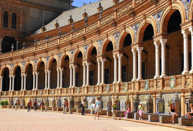 Zdjęcia: Sevilla, Andaluzja, Ławeczki, HISZPANIA