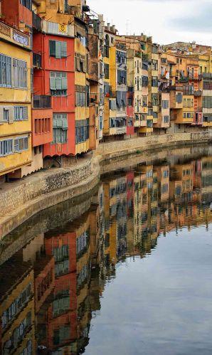 Zdj�cia: Girona, Katalonia, Lustrzane odbicie, HISZPANIA
