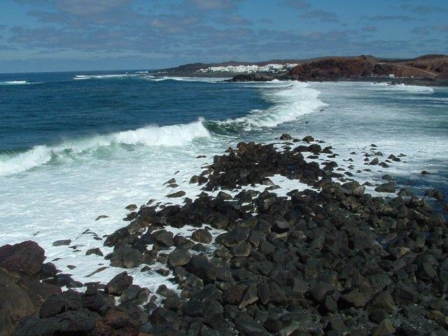 Zdjęcia: Lanzarote, Wyspy Kanaryjskie, Laguna El Golfo, HISZPANIA
