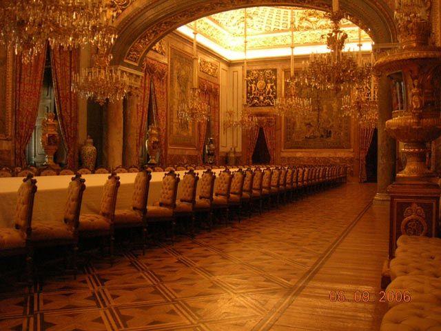 Zdjęcia: Madryt, Pałac Królewski - Jadalnia, HISZPANIA