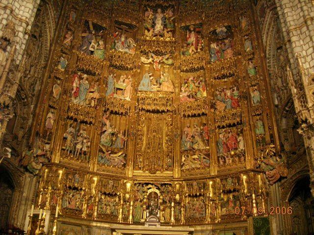 Zdj�cia: Toledo, -Kastylia - La Mancha, Katedra - G��wny O�tarz, HISZPANIA