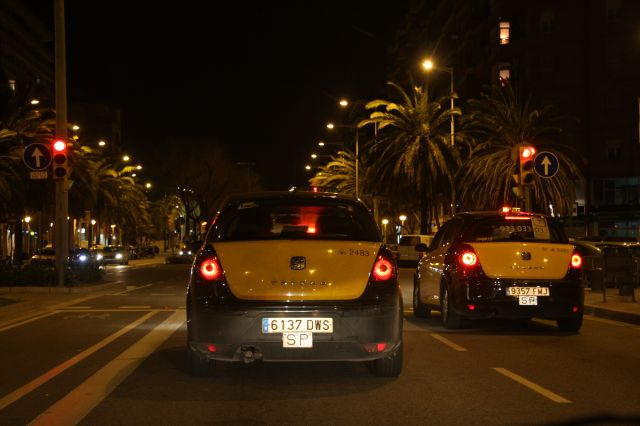 Zdjęcia: Barcelona, Cataluna, Taxi, HISZPANIA