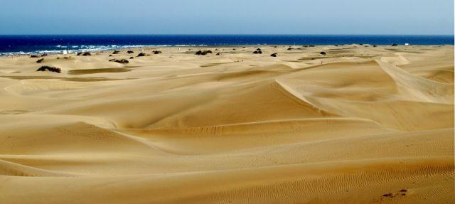 Zdjęcia: Maspalomas-wydmy, Gran Canaria, piaskowe delicje, HISZPANIA