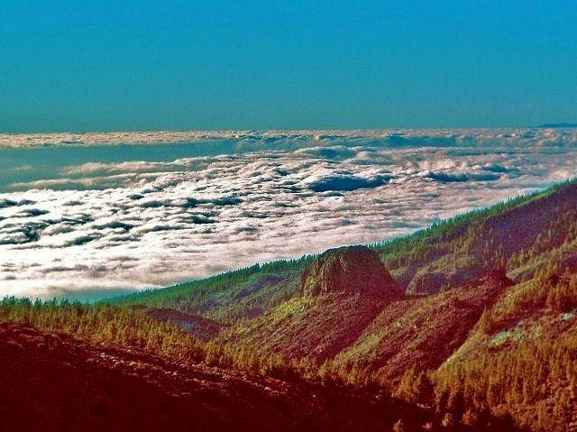 Zdjęcia: w drodze na Teide, Teneryfa, Mar de Nubes - Morze chmur, HISZPANIA