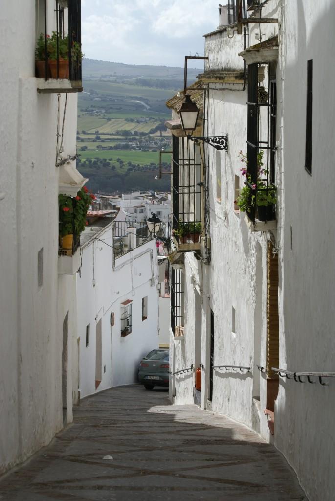 Zdjęcia: Acros de la Frontiera, Andaluzja, Biała uliczka, HISZPANIA