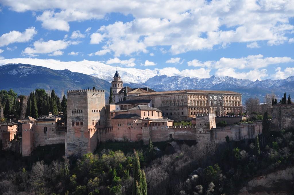 Zdjęcia: Granada, Andaluzja, Alhambra w popołudniowym słońcu, HISZPANIA
