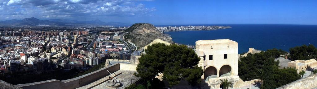 Zdjęcia: Zamek św. Barbary - Castillo de Santa Bárbara, Alicante, Panorama, HISZPANIA