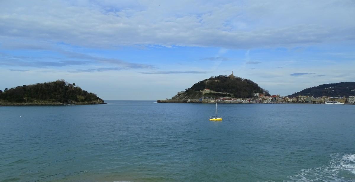 Zdjęcia: widok z plaży La Concha, Kraj Basków, San Sebastian, HISZPANIA