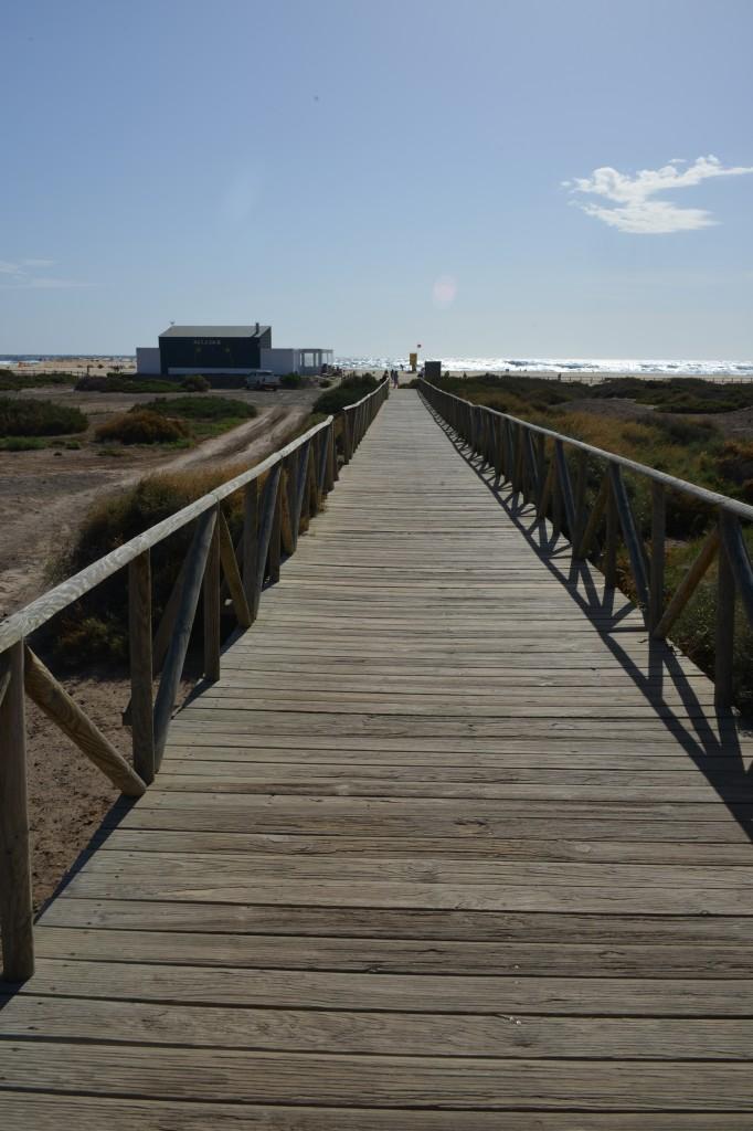 Zdjęcia: Fuerteventura, Morro Jable, Most do oceanu, HISZPANIA
