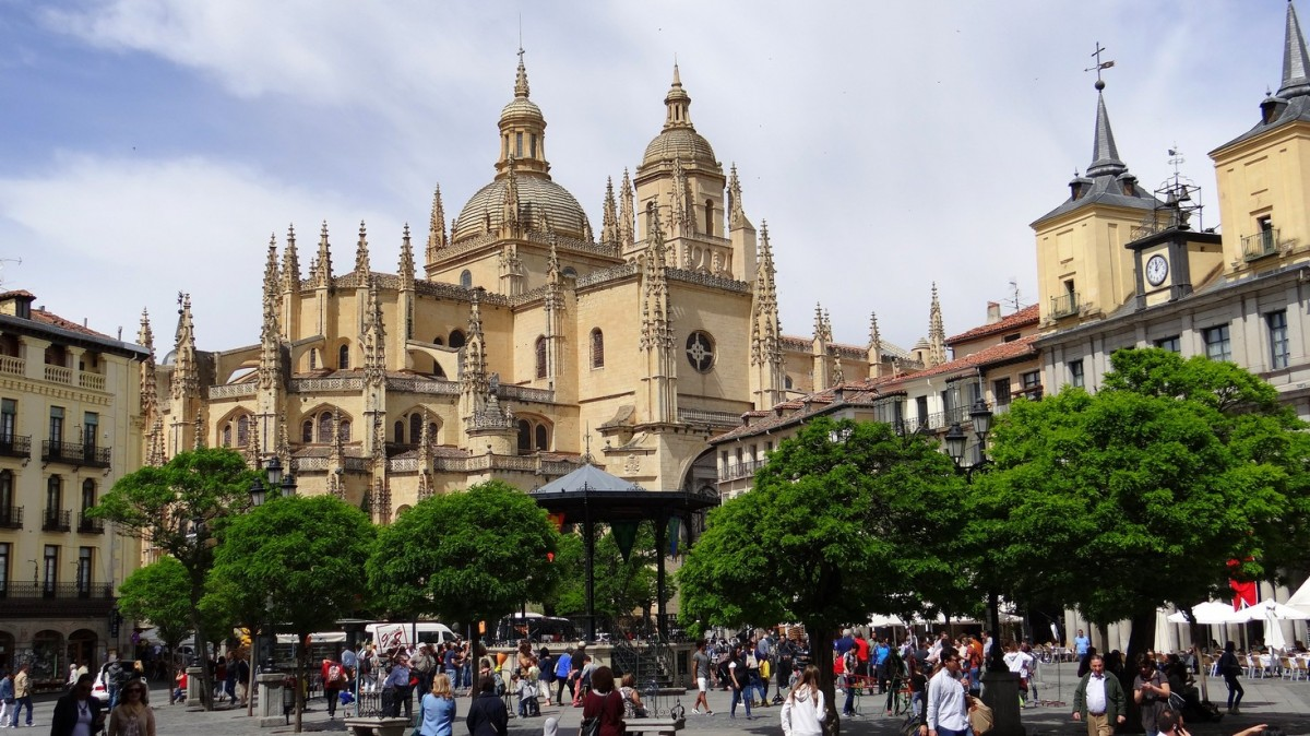 Zdjęcia: Segovia, Castilla y León, Plaza Mayor I, HISZPANIA