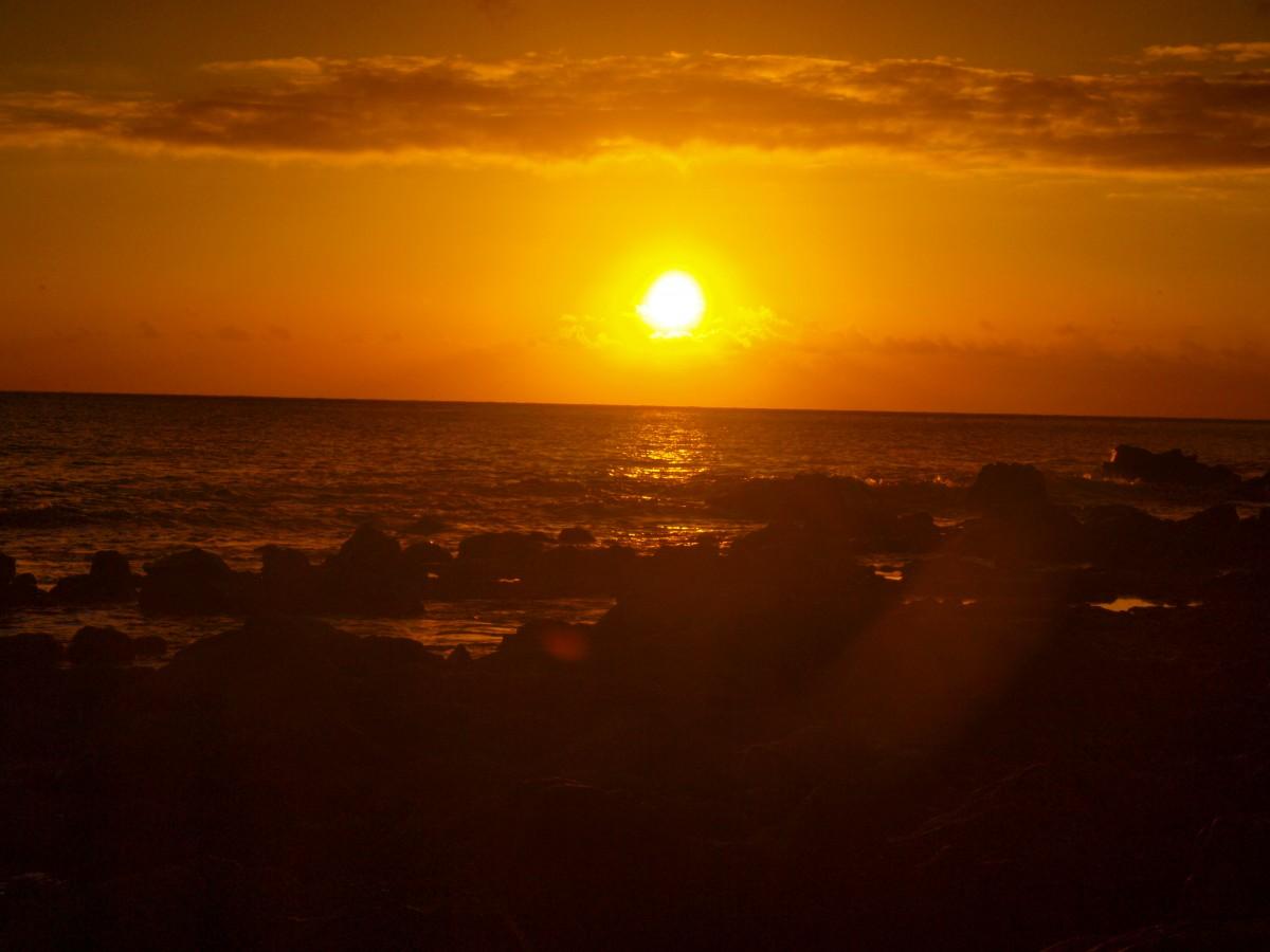 Zdjęcia: La Gomera, Wyspy Kanaryjskie, zachód słońca 4, HISZPANIA