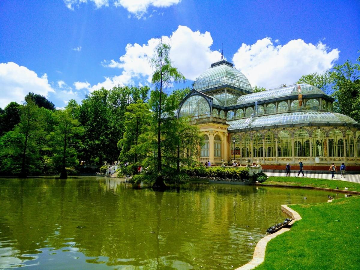 Zdjęcia: Park Retiro, Madryt, Pałac Kryształowy, HISZPANIA
