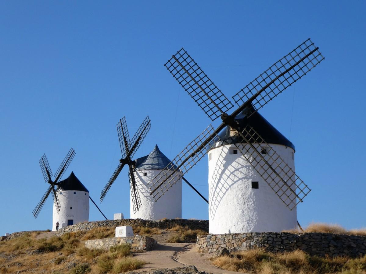 Zdjęcia: Consuegra, Kastylia-La Mancha , wiatraki, HISZPANIA