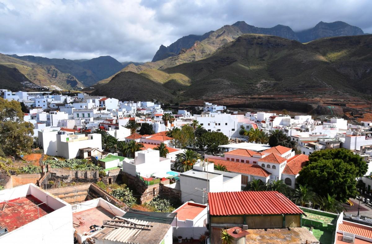 Zdjęcia: Agaete, Gran Canaria, Widok na Agaete, HISZPANIA