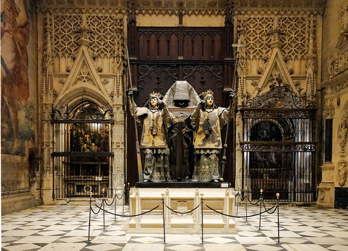 Zdjęcia: Sewilla, Katedra, Andaluzja, Grób Krzysztofa Kolumba, HISZPANIA