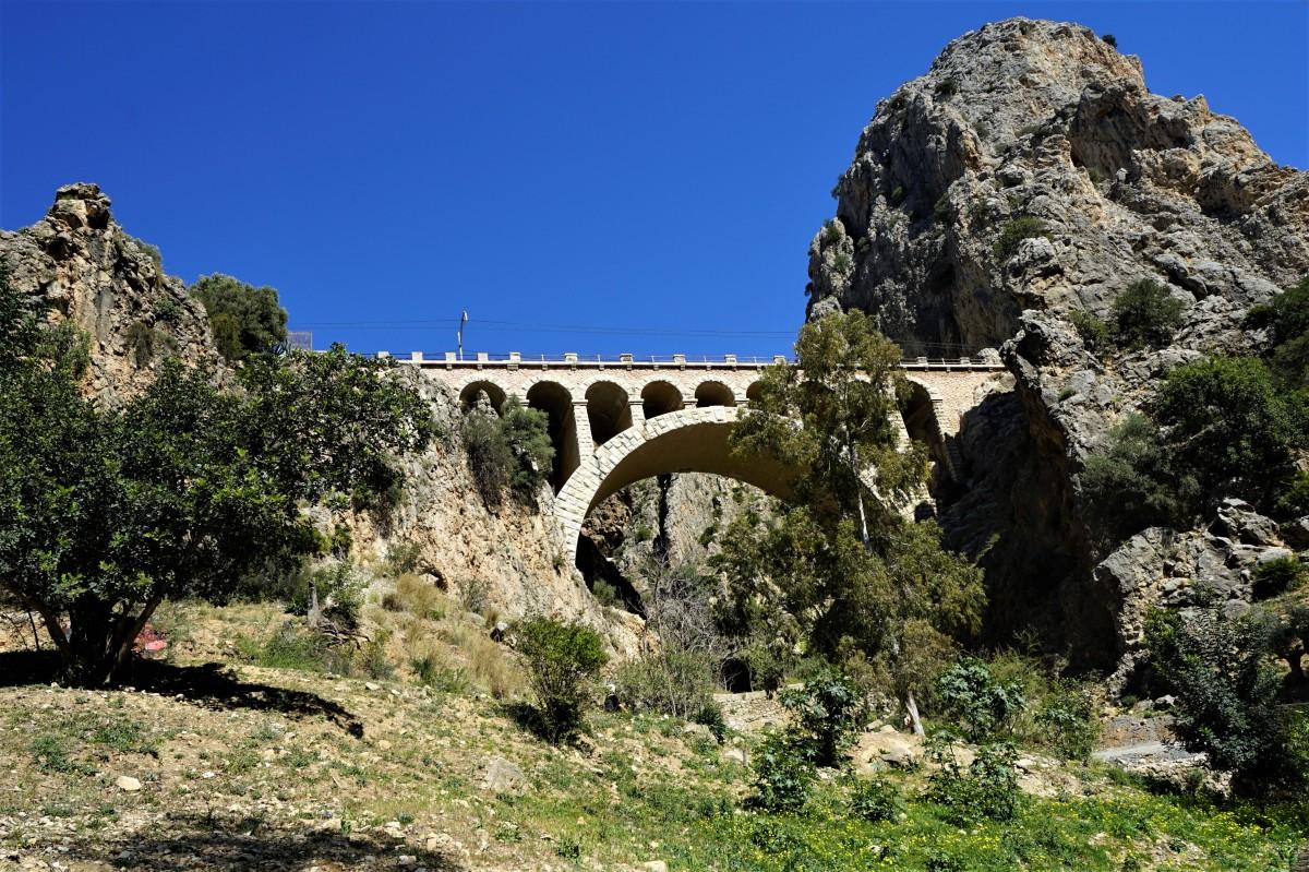 Zdjęcia: El Chorro, Andaluzja, Most kolejowy, HISZPANIA