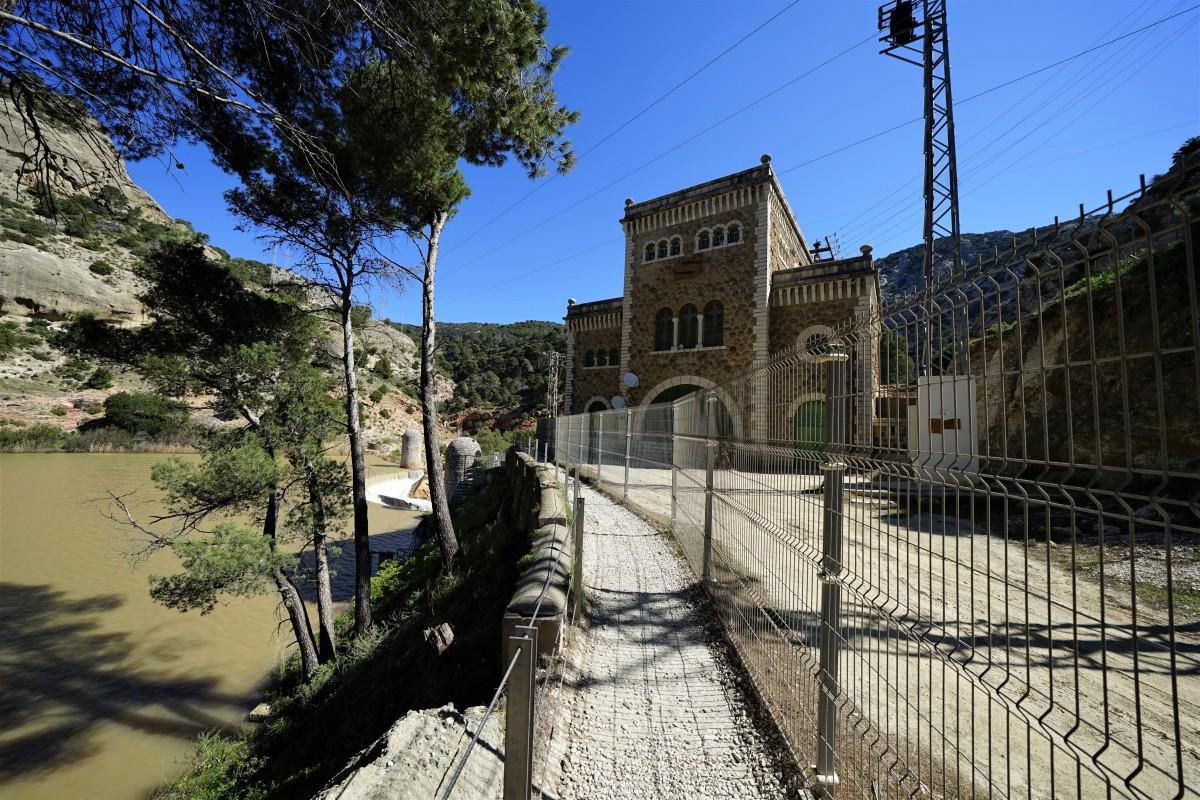 Zdjęcia: Caminito del Rey, Andaluzja, Kasa i początek właściwej trasy, HISZPANIA