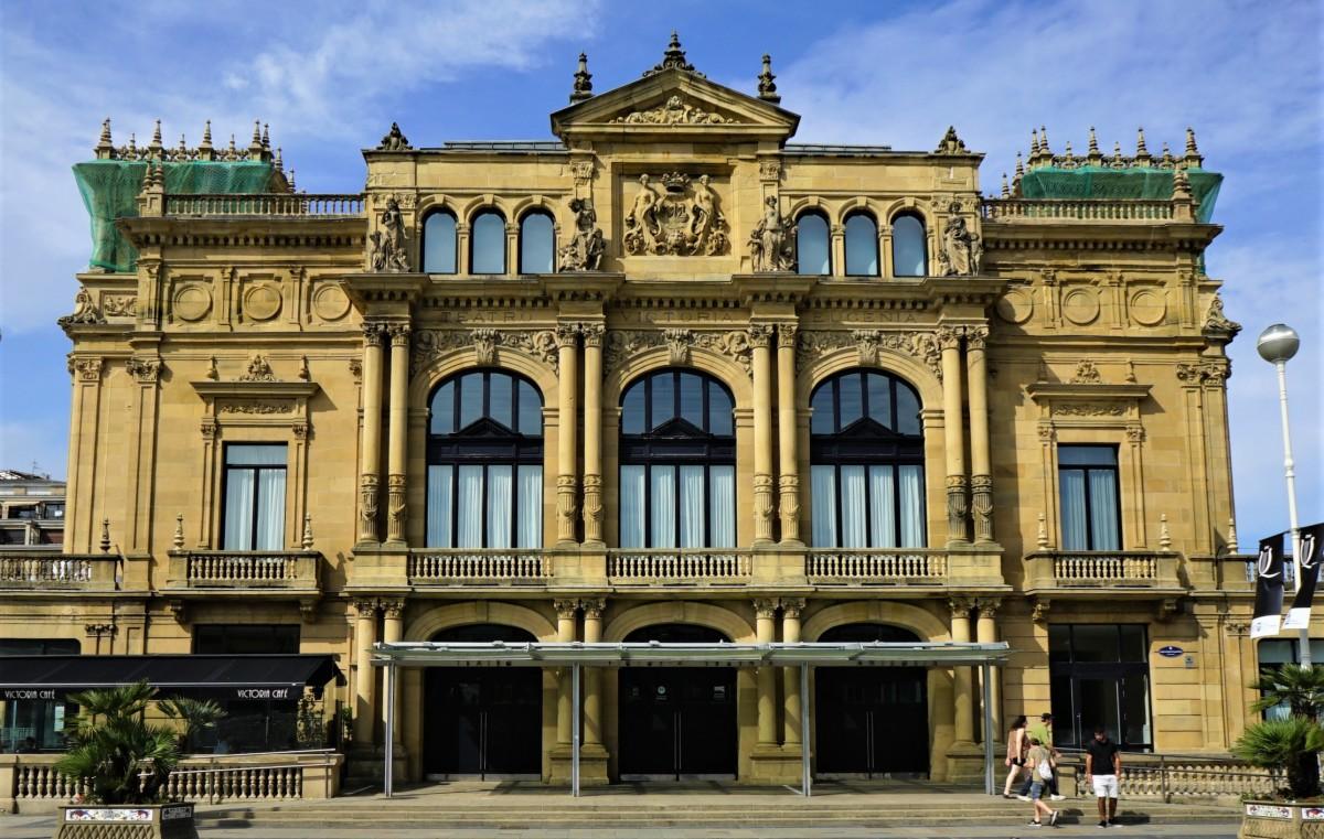 Zdjęcia: San Sebastian, Kraj Basków, Gmach teatru, HISZPANIA