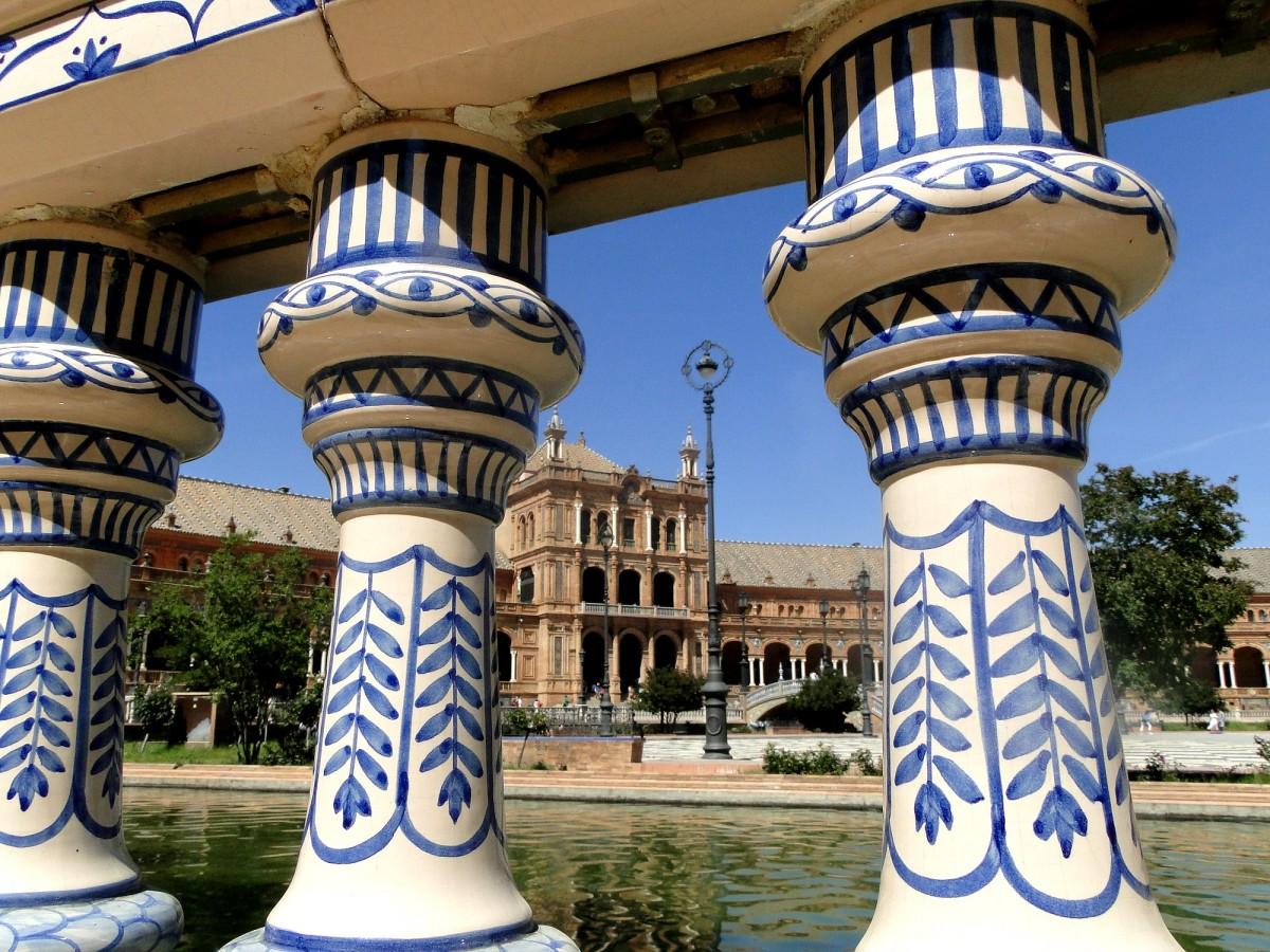 Zdjęcia: Sewilla, Andaluzja, Rzut oka na Plac Hiszpański, HISZPANIA