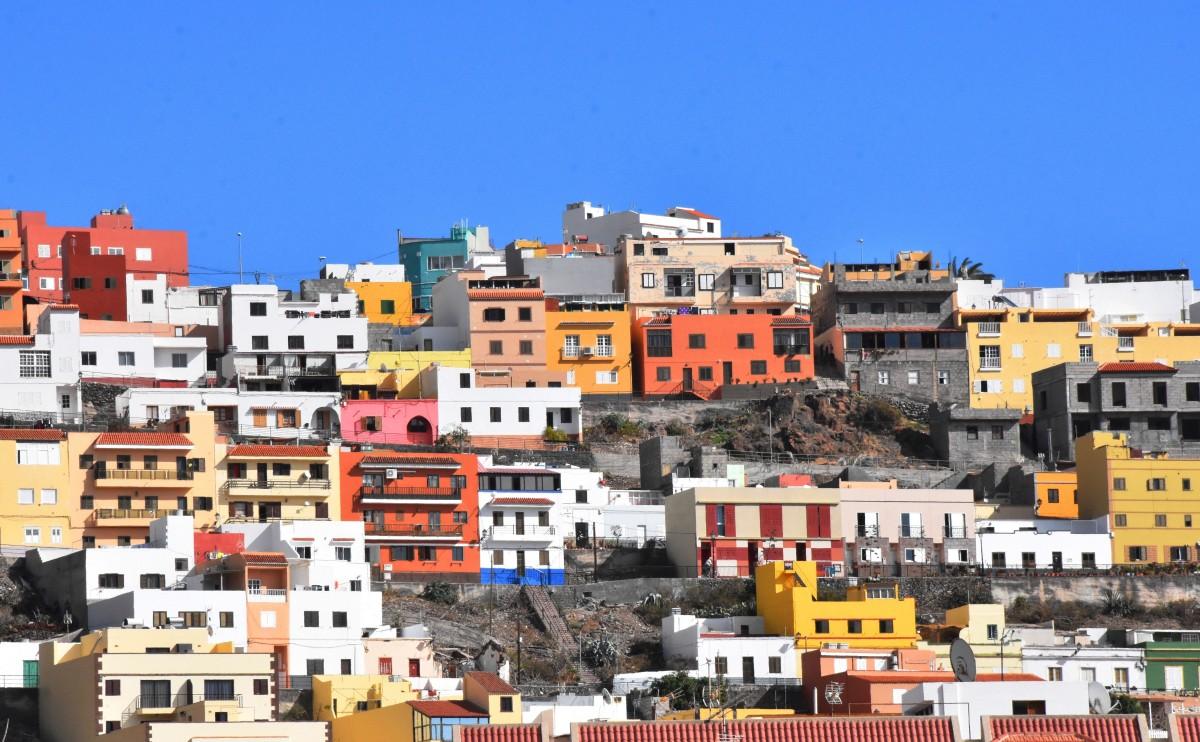 Zdjęcia: San Sebastian de la Gomera, La Gomera, Widok na wzgórze, HISZPANIA