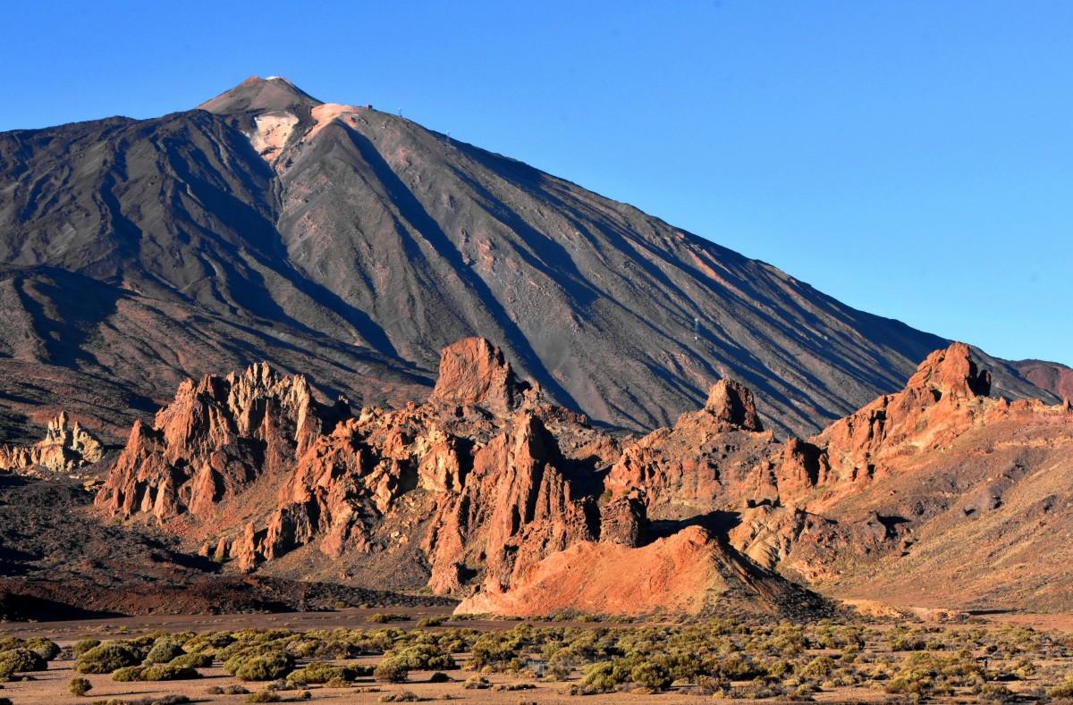 Zdjęcia: Park Narodowy Teide, Teneryfa, Widok na wulkan, HISZPANIA